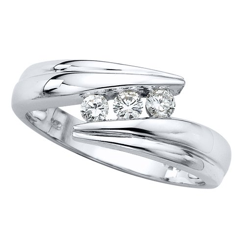 3 Cubic Zirconia Anniversary Ring 1/4 ct. in Sterling Silver