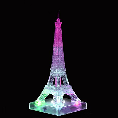 WAYCOM 3D Crystal Flash Music Eiffel Tower Jigsaw Puzzle 80pcs (Crystal Eiffel Tower compare prices)