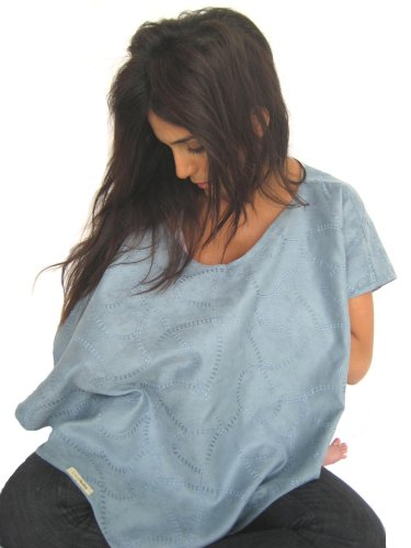 L'Ovedbaby 4-In-1 Nursing Shawl True Blue front-753280