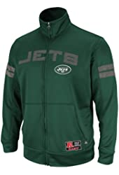 NFL Mens New York Jets Tailgate Time II Dk Green/Athletic Gry Marled Long Sleeve Mock Neck Synthetic