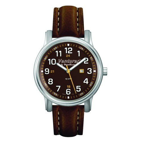 Venturer Sports Watch by WatchBuddy - Outback Brown with Brown Leather Strap - Child's Size