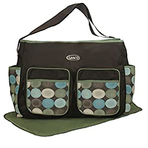 graco large hobo diaper bag montego brown green baby. Black Bedroom Furniture Sets. Home Design Ideas