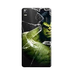 Aurmen High Quality Printed Designer Back Case Cover ForLenovo A7000 (Hulk6)