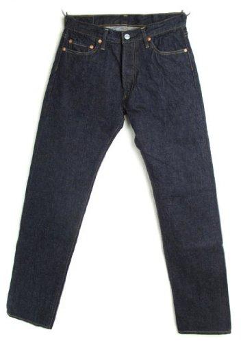 DENIME ≪ドゥニーム≫ #66XX-Type No.50120055 革パッチ インディゴ 綿100% 日本製 50年代 (W29, No Wash)