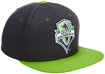 MLS Seattle Sounders, Flat Brim Snapback Hat, One Size Fits All, Green
