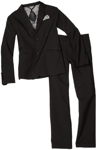 Volcom - Boys Dapper Suit Suit, Size: Large, Color: Black