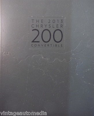 2013 Chrysler 200 Convertible New Vehicle Brochure