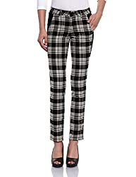Madame Women's Slim Pants (M1427107_Black Grey_30)
