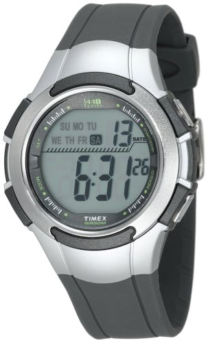 Timex Men's T5K238 1440 Sports Digital Full-Size Gray/Silver-Tone Resin Strap Watch
