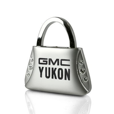 gmc-yukon-clear-crystals-purse-shape-key-chain