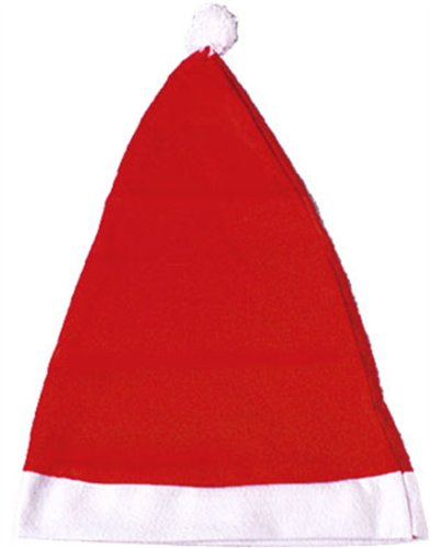 Adult Standard Red Santa Claus Hat with White Pom-Pom