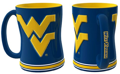 West Virginia Mountaineers Coffee Mug - 14Oz Sculpted