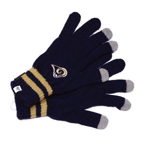 Nfl St. Louis Rams Men'S Team Player Touch Glove, Light Navy front-792646