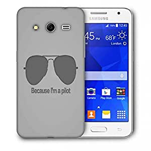 Snoogg I M A Pilot Printed Protective Phone Back Case Cover For Samsung Galaxy Core 2 / Core II G355H