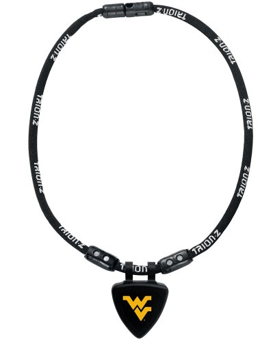 NCAA West Virginia Mountaineers Necklace, Black, Medium