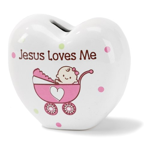 Dicksons Jesus Loves Me Coin Bank, Buggy
