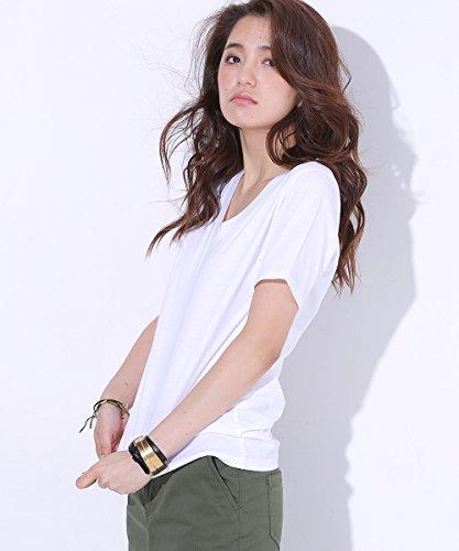 (ナノ・ユニバース) nano・universe 汗染み防止 Vネック Tシャツ AntiSoaked 9999165110305 36 ホワイト