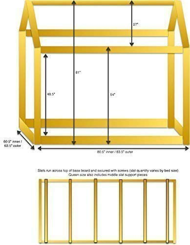 Queen House Bed Frame PREMIUM WOOD