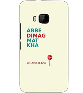 HTC ONE M9 ABBE DIMAG MAT KHA Back Cover by PRINTSWAG