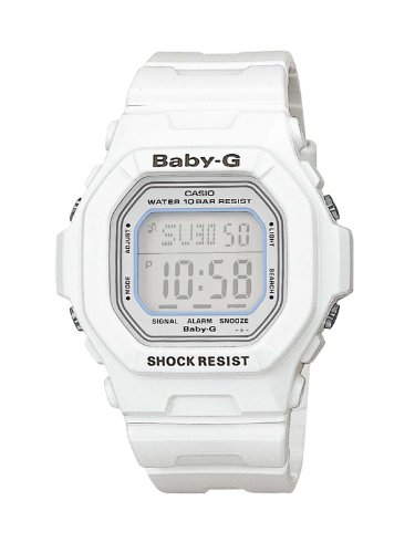 Baby-G Casio Ladies Digital Watch BG-5600WH-7ER with Resin Strap