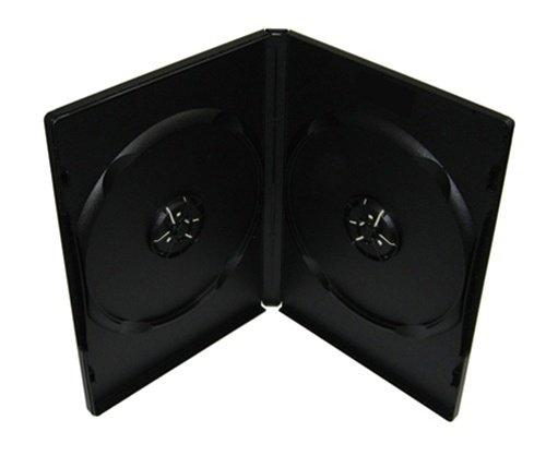 100 Machine Grade Standard Black Double DVD Cases