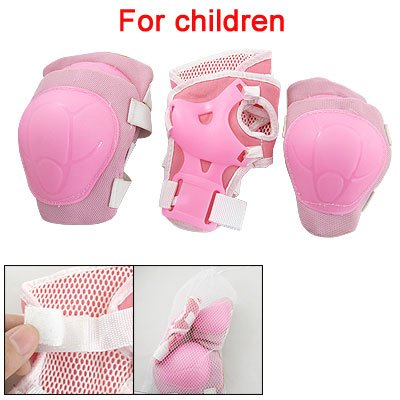 Buy Cheap Como Children Pink Wrist Elbow Knee Pad Sports Support Set