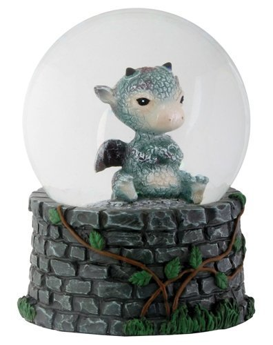 3.5 Inch Cold Cast Resin Sulky Baby Dragon Water Snow Globe Figurine
