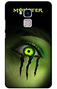monster Designer Printed Back Case Cover for Huawei Honor 5C