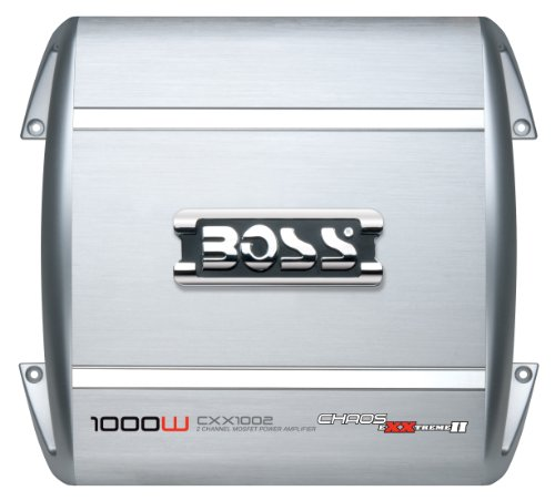 BOSS Audio CXX1002 Chaos Exxtreme II 1000-watts Full Range Class A/B 2 Channel 2-8 Ohm Stable Amplifier with Remote Subwoofer Level Control