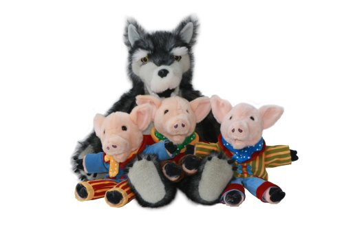 The Puppet Company Giant Story Tellers Wolf  &  Three Pigs Hand Puppet