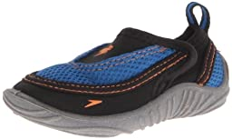 Speedo Surfwalker Pro Water Shoe (Toddler),Black/Frost Grey,Medium (6/7 M US Toddler)