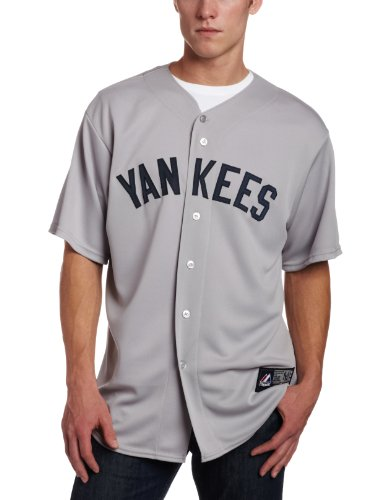 MLB Babe Ruth New York Yankees 1927 Adult Short Sleeve Synthetic Replica Jersey (Yankee Grey, Small) at Amazon.com