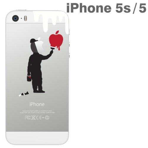 DoCoMo au SoftBank iPhone5 iPhone5s Applus アップラス anime hard clear iPhone case cover (paint)