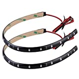 SODIAL 20x Wasserdicht 15 LED Strip Lichtleiste Lichterkette 30cm KFZ