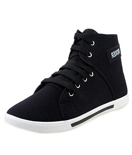 Leewon-Mens-Boxer-Black-Canvas-Sneakers