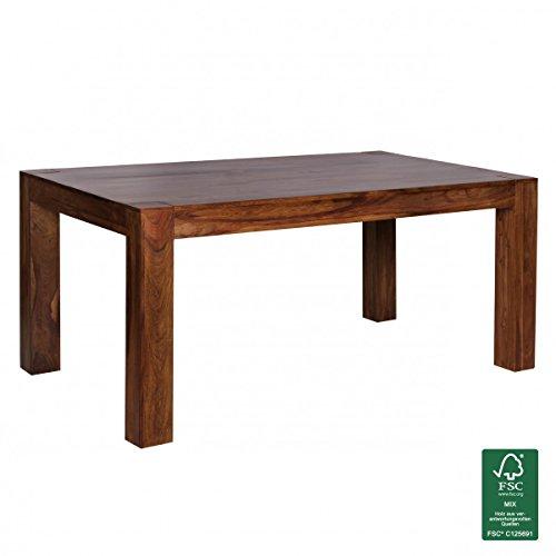 WOHNLING-Esstisch-Massivholz-Sheesham-160-240cm-ausziehbar-Esszimmer-Tisch-Design-Kchentisch-Landhaus-Stil-Holztisch-dunkel-braun-Natur-Produkt-Ausziehtisch-XXL-Massivholzmbel-Echtholz-unbehandelt