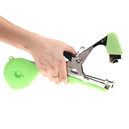 41IGG yi7sL - BEST BUY #1 Chenci Agriculture Tapener Plant Tying Tool Tape Tool Hand Tying Machine for Fruit Flower Vegetable Vine Tomato Metal with Tape & Staples