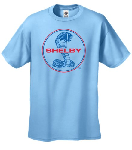 Ford Shelby Cobra Youth T-Shirt Blue & Red Shirt Design Kids-Lightblue-Ym