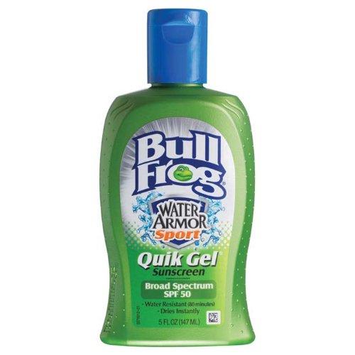 Bull Frog Water Armor Sport Quik Gel Sunblock, SPF 50 5 fl oz