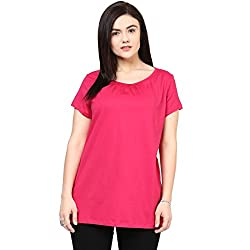 Alto Moda by Pantaloons Women's Solid Casual T-Shirt (205000005543273_Size_XXXXXXX-Large)