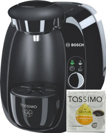 Bosch Tassimo T20 Beverage System and Coffee Brewer Black with Pack of T Discs