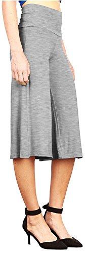 Happy Lily Women High Waist Wide Leg Culottes Palazzo Bell Bottom Yoga Pants