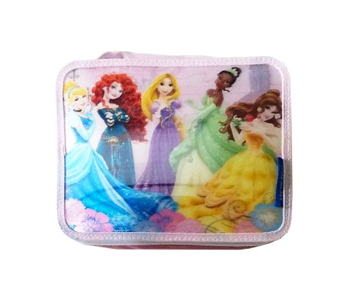 Disney Princess Arctic Zone Insulated Lenticular Lunch Pack ~ Cinderella, Merida, Rapunzel, Tiana, Belle - 1