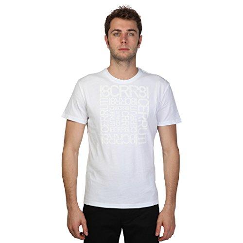 Cerruti 1881 - Maglietta di cotone a maniche corte con scritte - Uomo (L) (Bianco)