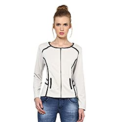 Kaxiaa Blended Sand Jacket For Women (Size-Large)