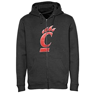 NCAA Cincinnati Bearcats Mens Bold Statement Long Sleeve Full-Zip Hooded Fleece by Majestic