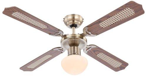 Deckenventilator Ventilator mit Zugschalter und Beleuchtung Globo Champions 0309 / 034009