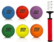 High Bounce sets of 8.5″ Playground Balls with Hand Pump and Needles