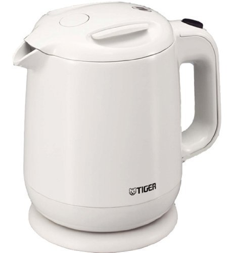 Tiger When You Want A Quick Drink 1.0L Electric Kettle! Pce-A100-Wa (A Fluorine Content Boil Processing) White By Tiger