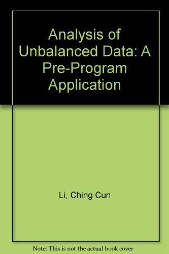 Analysis of Unbalanced Data: A Pre-Program Application